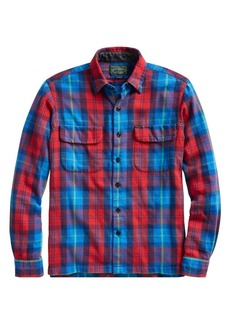 Ralph Lauren Polo Plaid Cotton Button-Front Shirt