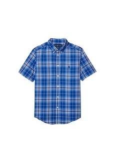 Ralph Lauren: Polo Plaid Cotton Poplin Shirt (Big Kids)