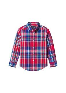 Ralph Lauren: Polo Plaid Cotton Poplin Shirt (Little Kids/Big Kids)