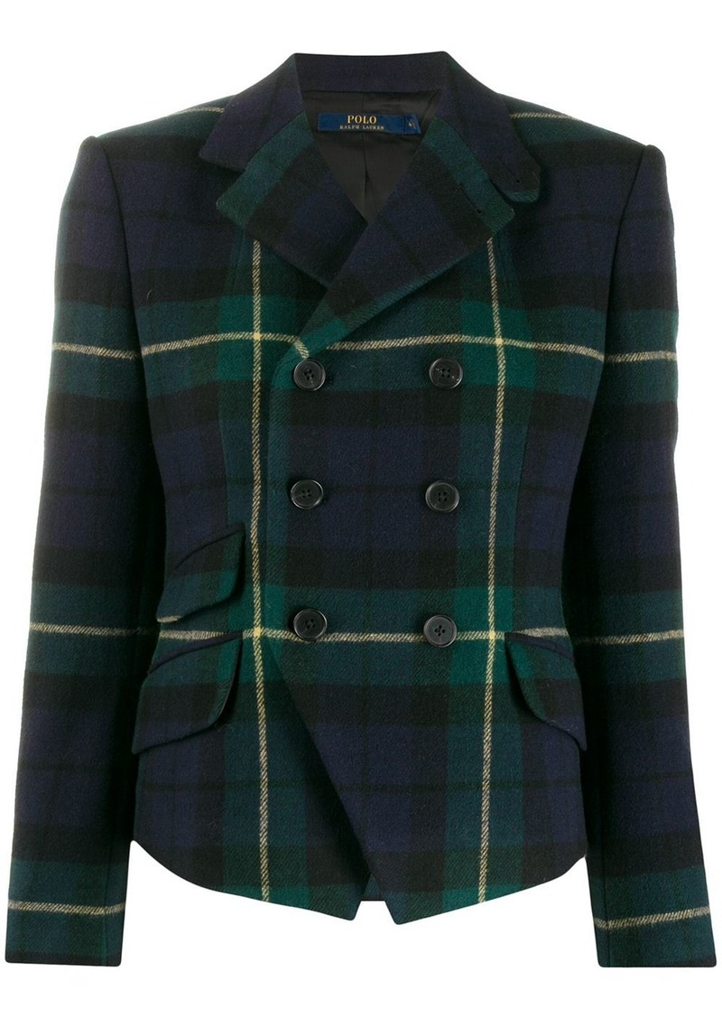 Ralph Lauren: Polo plaid double breasted blazer
