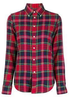 Ralph Lauren plaid logo embroidered shirt