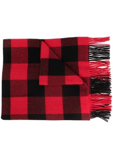 Ralph Lauren: Polo plaid-pattern knitted scarf