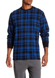 Ralph Lauren Polo Plaid Waffle Knit Long Sleeve Tee