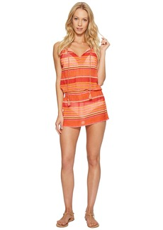 Ralph Lauren: Polo Playa Stripe High Neck Dress Cover-Up