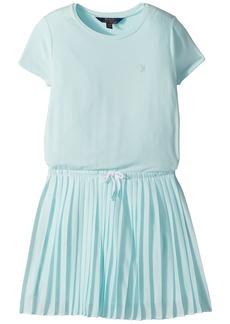 Ralph Lauren: Polo Pleated Jersey T-Shirt Dress (Little Kids/Big Kids)