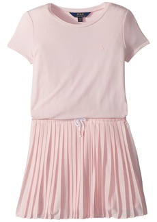 Ralph Lauren: Polo Pleated Jersey T-Shirt Dress (Little Kids/Big Kids)