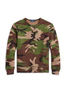 Ralph Lauren: Polo Polo Ralph Lauen Boys' Camo Print Long Sleeve Sweatshirt - Little Kid