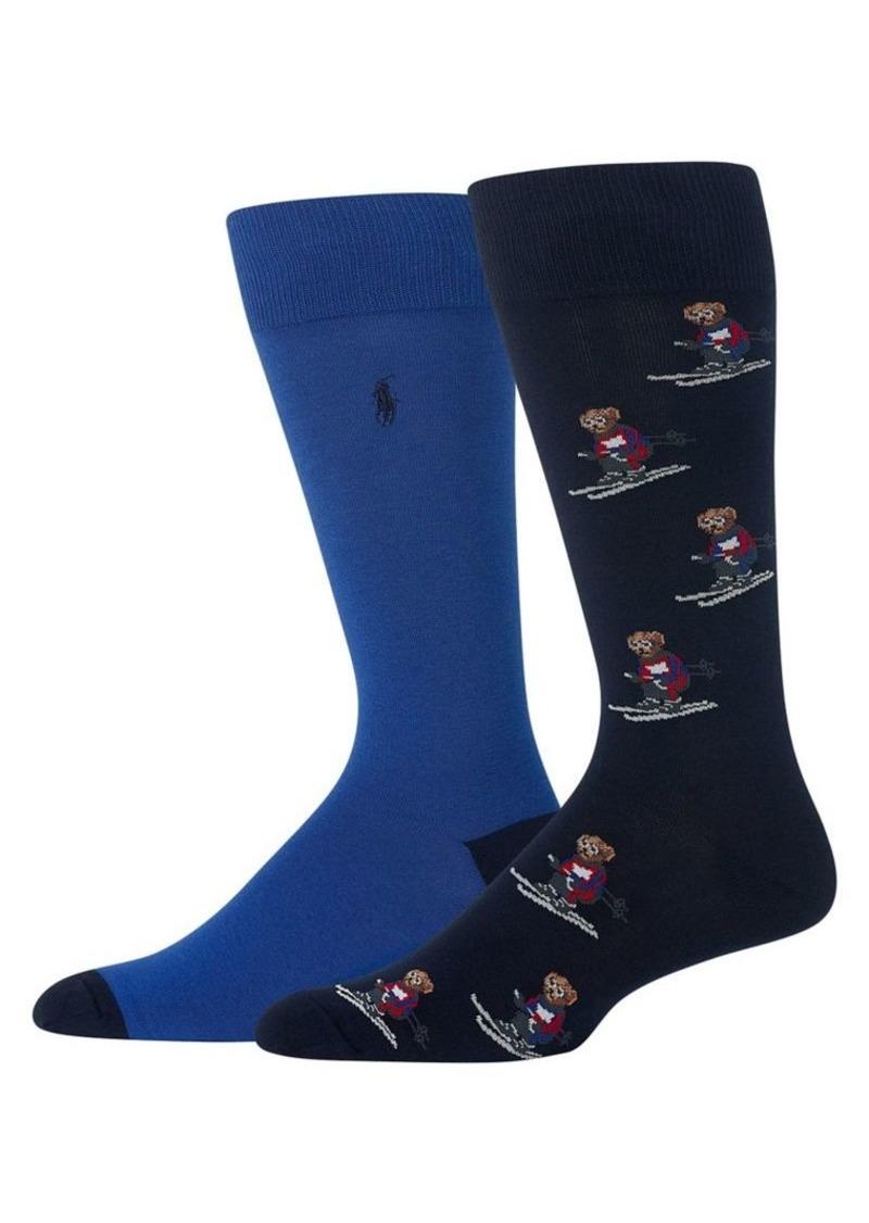 Ralph Lauren Polo Polo Ralph Lauren 2-Pair Extreme Bears Slack Socks