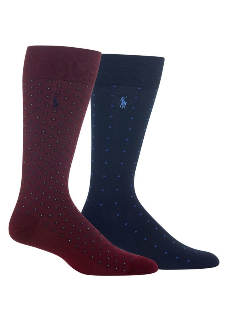 Ralph Lauren Polo Polo Ralph Lauren 2-Pair Foulard Crew Socks
