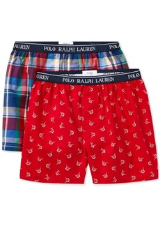 Ralph Lauren: Polo Polo Ralph Lauren 2-Pk. Printed Boxer Shorts, Little & Big Boys