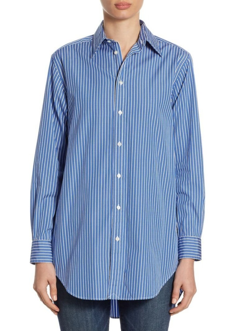 Ralph lauren polo polo ralph lauren slim fit striped for Polo ralph lauren casual button down shirts