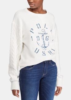 Ralph Lauren: Polo Polo Ralph Lauren Aran-Knit Fleece Pullover