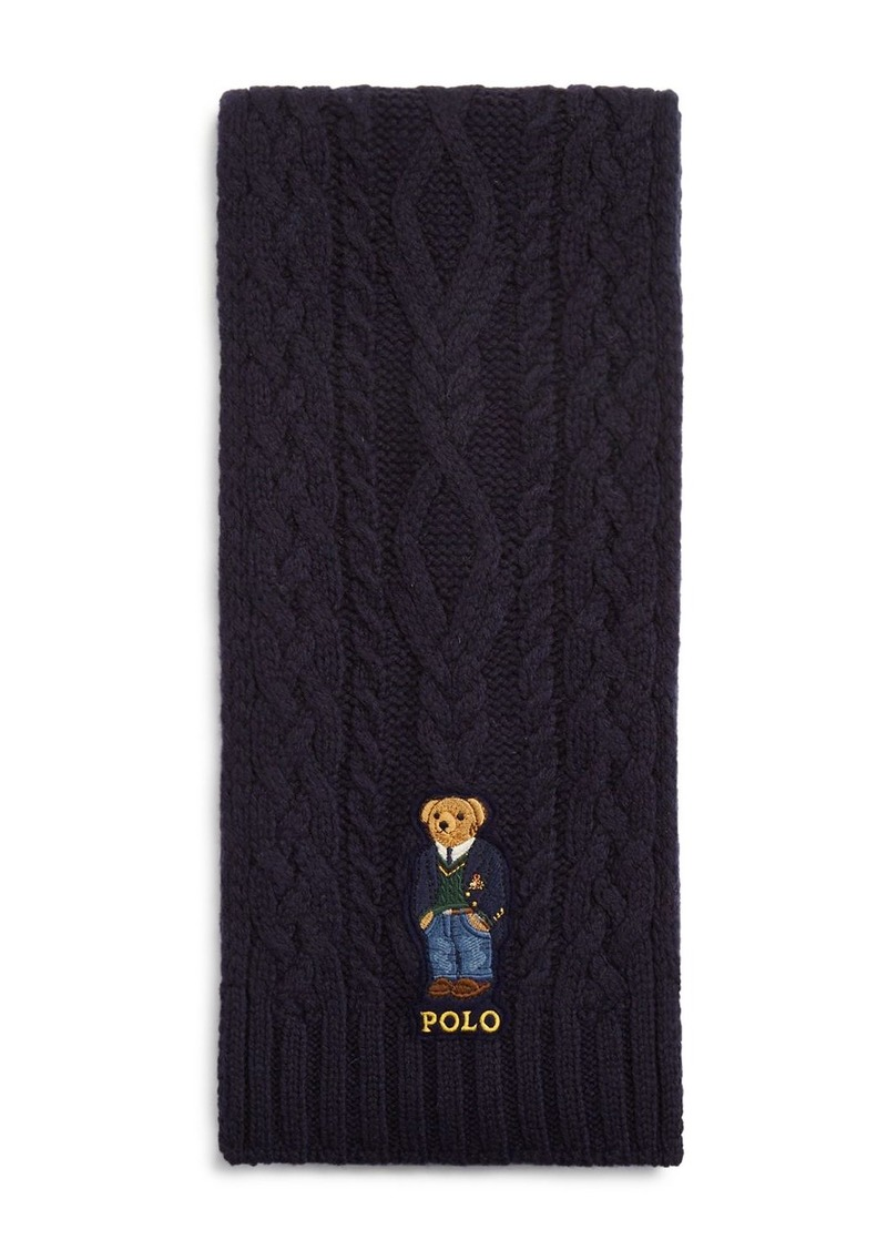 Ralph Lauren Polo Polo Ralph Lauren Aran St. Andrew Bear Scarf