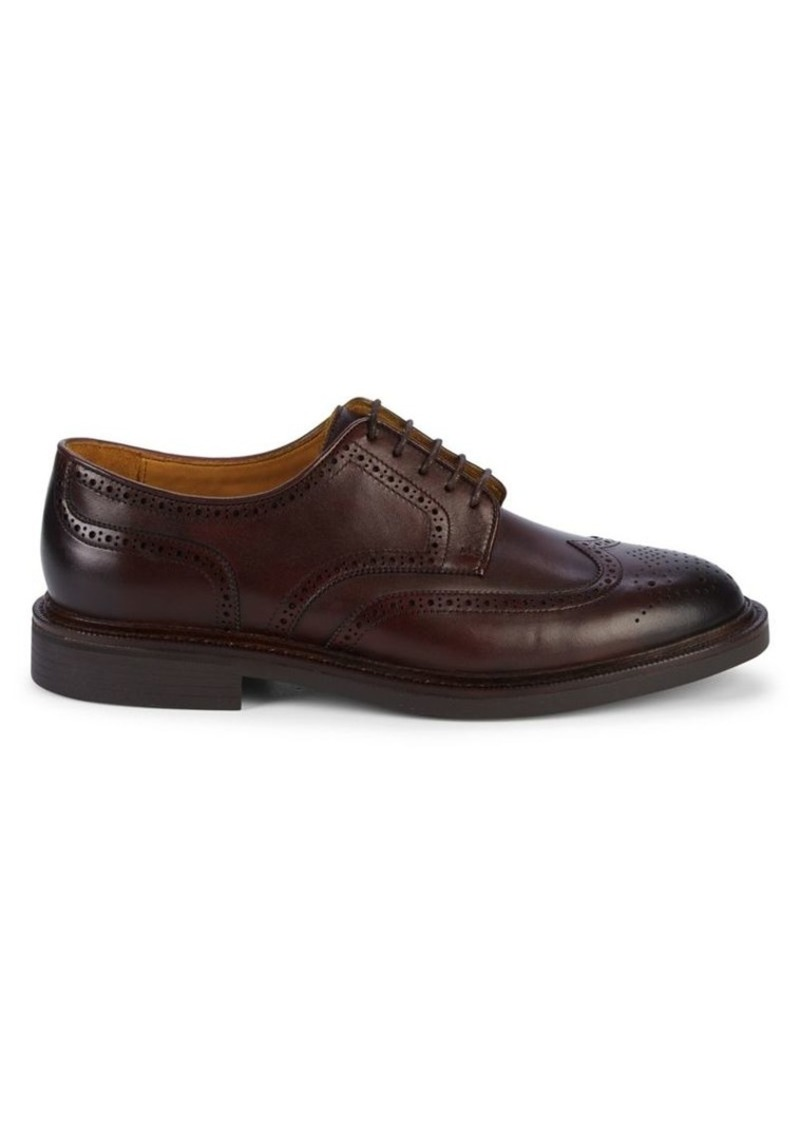Ralph Lauren Polo Polo Ralph Lauren Asher Wiingtip Leather Derby Shoes
