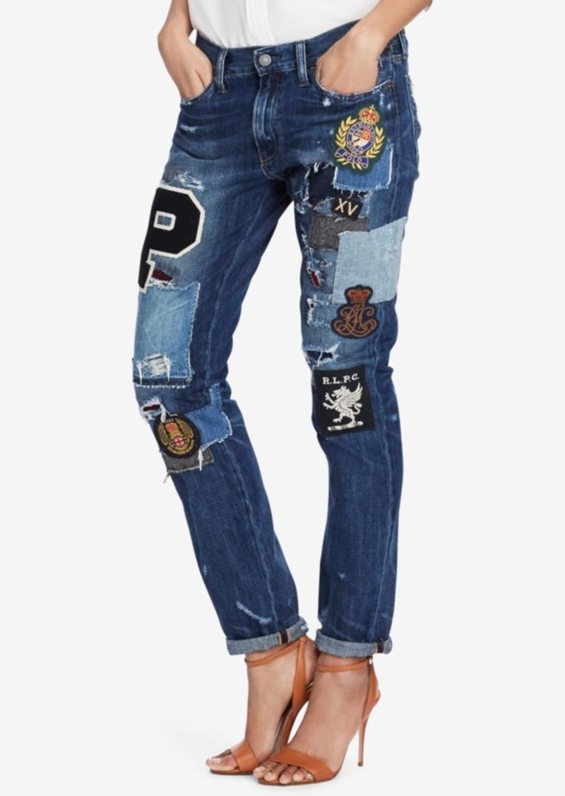 Fit Slim Cotton Lauren Polo Lauren Boyfriend Astor Ralph Jeans WTgXqX