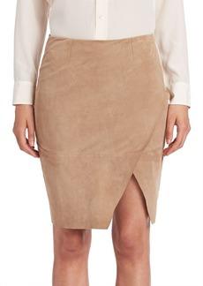 Ralph Lauren: Polo Polo Ralph Lauren Asymmetrical Leather Pencil Skirt