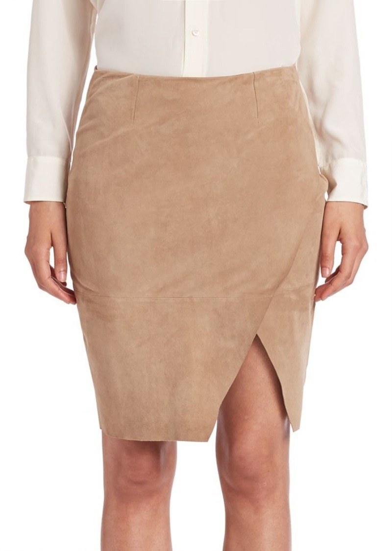 Ralph Lauren: Polo Polo Ralph Lauren Asymmetrical Leather Pencil Skirt