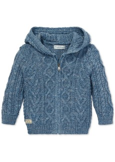 Ralph Lauren: Polo Polo Ralph Lauren Baby Boys Aran-Knit Cotton Hooded Sweater