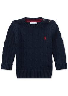 Ralph Lauren: Polo Polo Ralph Lauren Baby Boys Cable-Knit Cotton Sweater