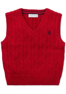 Ralph Lauren: Polo Polo Ralph Lauren Baby Boys Cable-Knit Cotton Sweater Vest