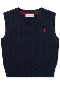 Ralph Lauren: Polo Polo Ralph Lauren Baby Boys Cable-Knit Cotton Vest