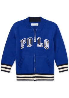 Ralph Lauren: Polo Polo Ralph Lauren Baby Boys Full-Zip Cotton Logo Sweater