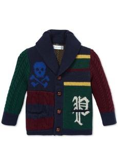 Ralph Lauren: Polo Polo Ralph Lauren Baby Boys Patchwork Merino Wool Cardigan