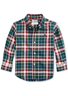 Ralph Lauren: Polo Polo Ralph Lauren Baby Boys Plaid Cotton Poplin Shirt