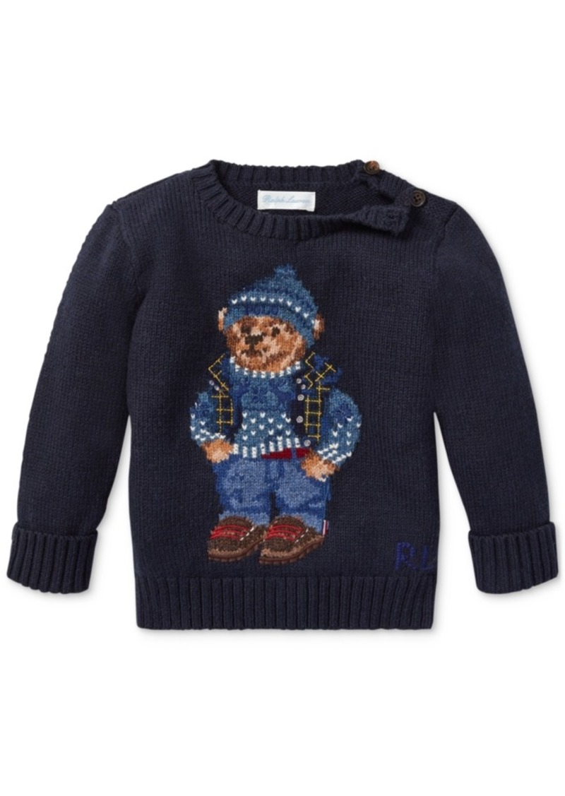 22d453ce68deb Ralph Lauren  Polo Polo Ralph Lauren Baby Boys Polo Bear Cotton Sweater