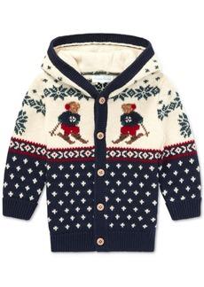 Ralph Lauren: Polo Polo Ralph Lauren Baby Boys 3M Ski Bear Cardigan