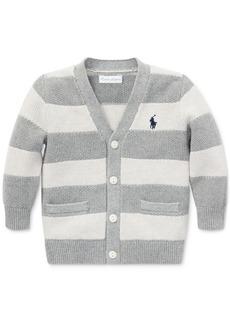 Ralph Lauren: Polo Polo Ralph Lauren Baby Boys Striped V-Neck Cotton Cardigan