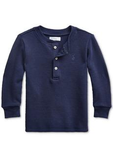 Ralph Lauren: Polo Polo Ralph Lauren Baby Boys Waffle Knit Henley Shirt