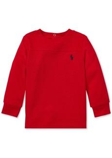 Ralph Lauren: Polo Polo Ralph Lauren Baby Boys Waffle-Knit Long-Sleeve T-Shirt