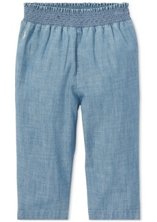 Ralph Lauren: Polo Polo Ralph Lauren Baby Girls Cotton Chambray Pull-On Pants