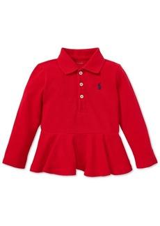 Ralph Lauren: Polo Polo Ralph Lauren Baby Girls Cotton Peplum Polo