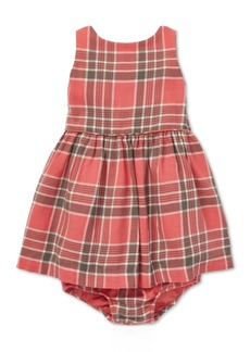Ralph Lauren: Polo Polo Ralph Lauren Baby Girls Fit & Flare Plaid Cotton Dress