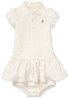 Ralph Lauren: Polo Polo Ralph Lauren Baby Girls Flag Polo Cotton Dress