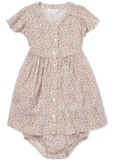 Ralph Lauren: Polo Polo Ralph Lauren Baby Girls Floral-Print Fit & Flare Dress