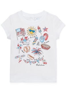 Ralph Lauren: Polo Polo Ralph Lauren Baby Girls Graphic Cotton T-Shirt