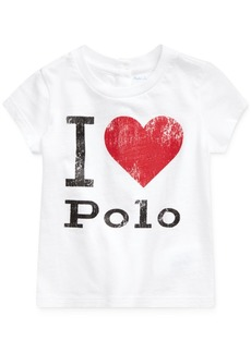 Ralph Lauren: Polo Polo Ralph Lauren Baby Girls Jersey Cotton T-Shirt