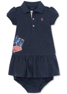 Ralph Lauren: Polo Polo Ralph Lauren Baby Girls Patchwork Cotton Polo Dress
