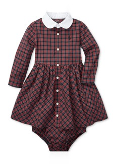 Ralph Lauren: Polo Polo Ralph Lauren Baby Girls Plaid Cotton Shirtdress