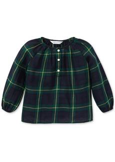 Ralph Lauren: Polo Polo Ralph Lauren Baby Girls Plaid Cotton Top