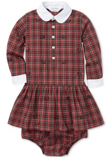 Ralph Lauren: Polo Polo Ralph Lauren Baby Girls Plaid Poplin Cotton Dress