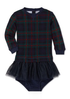 Ralph Lauren: Polo Polo Ralph Lauren Baby Girls Plaid Sweatshirt Dress