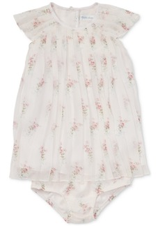 Ralph Lauren: Polo Polo Ralph Lauren Baby Girls Pleated Floral-Print Crepe Dress