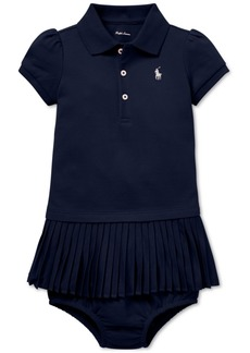 Ralph Lauren: Polo Polo Ralph Lauren Baby Girls Pleated Polo Dress