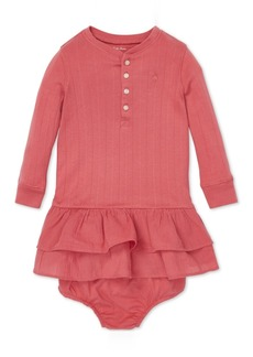Ralph Lauren: Polo Polo Ralph Lauren Baby Girls Ruffled Long-Sleeve Cotton Dress