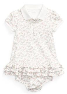 Ralph Lauren: Polo Ralph Lauren Baby Girls Ruffled Polo Dress and Bloomer
