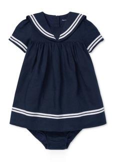 Ralph Lauren: Polo Polo Ralph Lauren Baby Girls Sailor Dress & Bloomer